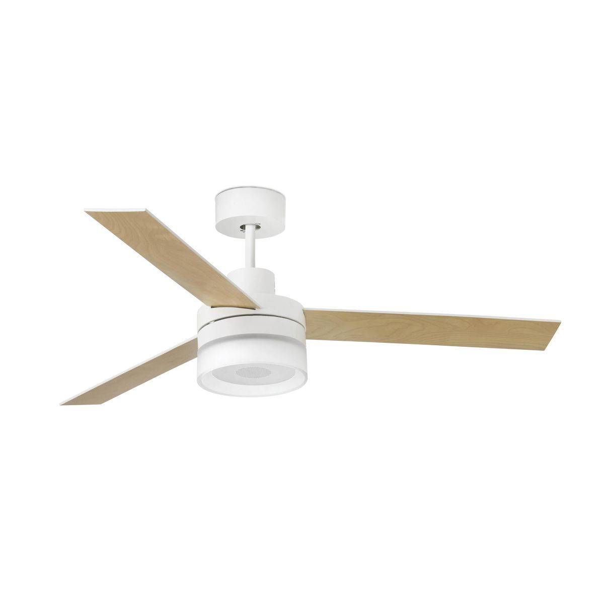 Ventilateur Plafond Ice Speaker 132cm Blanc Erable