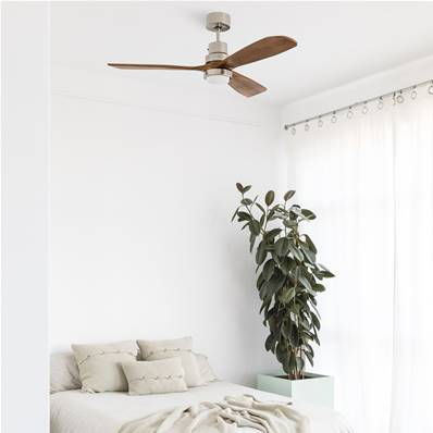 Ventilateur de Plafond Lantau 132cm Nickel Noyer
