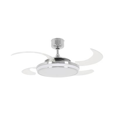 Ventilateur Plafond Retractable EVO1 122cm Chromé Transparent