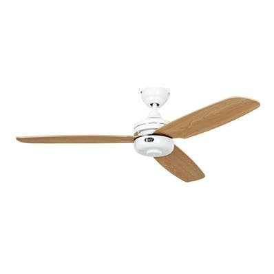 Ventilateur Plafond Night Flight 132cm Blanc Hêtre