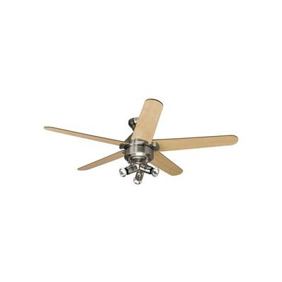 Ventilateur Plafond Lemoyne 132cm Nickel Erable Chêne