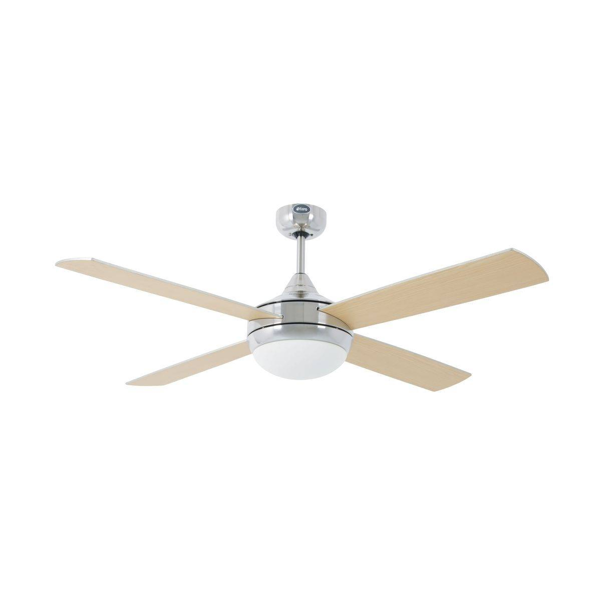 Ventilateur Plafond Icaria 132cm Nickel Gris Erable