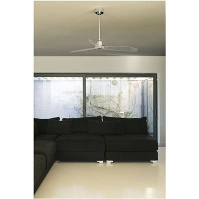 Ventilateur de Plafond Just Fan 128cm Chromé Transparent